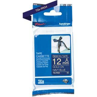Brother TZE-RN34 Laminiertes Tape 12mm navyblau