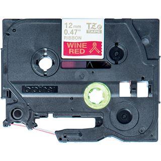 Brother TZE-RW34 Laminiertes Tape 12mm weinrot