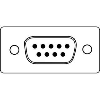 (€2,30*/1m) 3.00m Digitus Seriell Anschlusskabel D-Sub 9pol Stecker auf D-Sub 9pol Stecker beige vernickelt