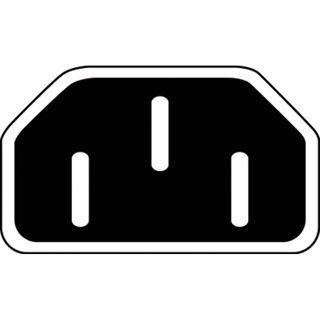 (€4,65*/1m) 1.70m Digitus Kaltgeräte Y-Stromadapterkabel C14 Stecker auf 2xCinch Buchse Schwarz vernickelt