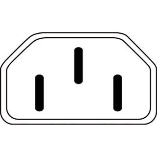 (€3,83*/1m) 1.80m Digitus Kaltgeräte Anschlusskabel gewinkelt Stecker auf C13 Buchse Schwarz gewinkelt rechts / vernickelt