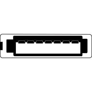 (€7,80*/1m) 0.50m Digitus SATA Anschlusskabel SATA Stecker auf SATA Stecker gewinkelt Rot flach