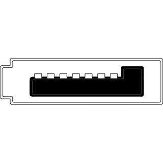 """(€7,80*/1m) 0.50m Digitus SATA Anschlusskabel SATA Stecker + 5,25"""" Molex Strom Stecker auf SATA Stecker Rot flach"""
