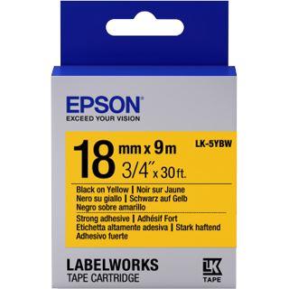 Epson Band klebend schw./gelb 18mm