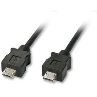 (€6,90*/1m) 1.00m Lindy USB2.0 Anschlusskabel voll geschirmt USB A Stecker auf USB Micro-B Stecker Schwarz Knickschutzelement