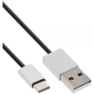 (€1,78*/1m) 5.00m InLine USB2.0 Anschlusskabel High-Speed USB A Stecker auf USB C Stecker Schwarz flexibel