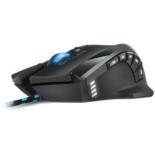 Sharkoon Skiller SGM1 + Mauspad USB schwarz (kabelgebunden)