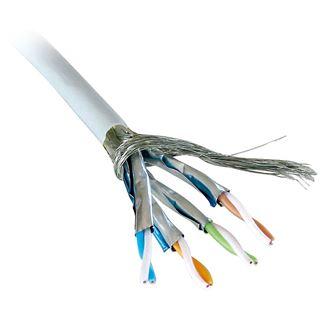 (€0,58*/1m) 100.00m Lindy Cat. 6 Patchkabel S/FTP PiMF Grau AWG27 / flexibel / Geflechtabschirmung / Trommel