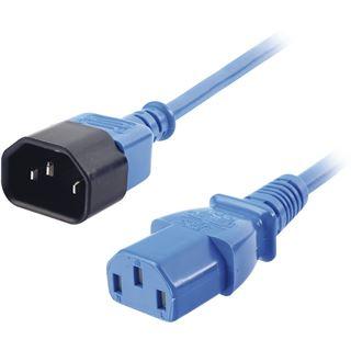 (€9,80*/1m) 0.50m Lindy IEC Verlängerungskabel C14 Stecker auf C13 Buchse Blau
