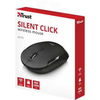 Trust Mute Silent Click USB schwarz (kabellos)