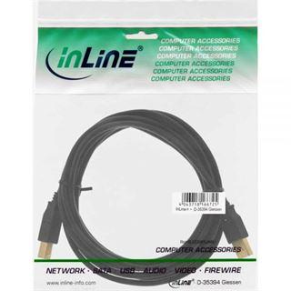 (€0,70*/1m) 7.00m InLine USB1.1 Anschlusskabel USB 2.0 USB A Stecker auf USB B Stecker Schwarz