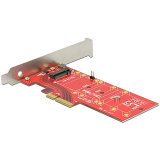 Delock PCI Expr Card 4x + NVMe M.2 Key M int + Kühlk. LowPro