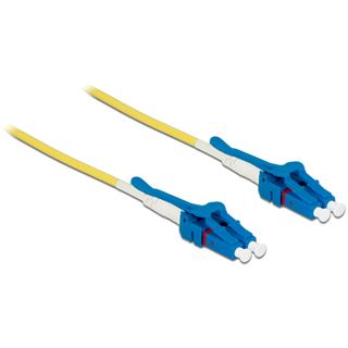 (€3,63*/1m) 3.00m Delock LWL Duplex LWL Anschlusskabel 9/125 µm OS2 LC Stecker auf LC Stecker Gelb Keramik Ferrule / LSOH / Polybag