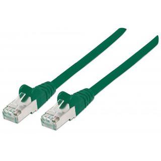 (€0,66*/1m) 15.00m Intellinet Cat. 6a Patchkabel S/FTP RJ45 Stecker auf RJ45 Stecker Grün doppelt geschirmt / Kupfer / vergoldet