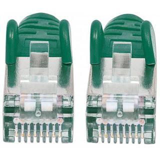 (€0,60*/1m) 30.00m Intellinet Cat. 6a Patchkabel S/FTP RJ45 Stecker auf RJ45 Stecker Grün doppelt geschirmt / Kupfer / vergoldet