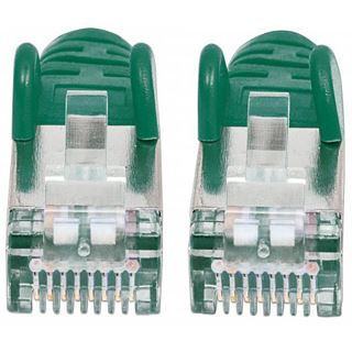 (€4,90*/1m) 1.00m Intellinet Cat. 6a Patchkabel S/FTP RJ45 Stecker auf RJ45 Stecker Grün doppelt geschirmt / Kupfer / vergoldet