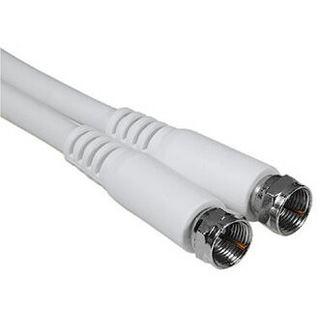 (€2,65*/1m) 3.00m Hama Antennenkabel F-Stecker auf F-Stecker Weiß doppelt geschirmt