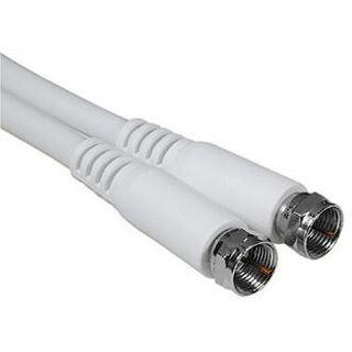 5.00m Hama Antenne Anschlusskabel F-Stecker auf F-Stecker Weiß geschirmt