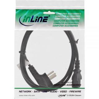 (€1,78*/1m) 5.00m InLine Stromkabel Stecker Israel auf Kaltgeräte Stecker C13 Schwarz