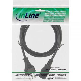 (€1,78*/1m) 5.00m InLine Stromkabel Stecker Italien auf Kaltgeräte Stecker C13 Schwarz