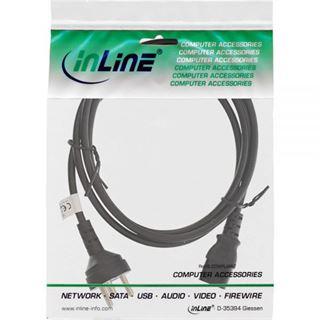 (€2,30*/1m) 3.00m InLine Stromkabel Stecker Daenemark auf Kaltgeräte Stecker C13 Schwarz