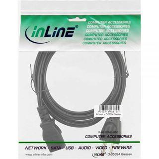 (€2,30*/1m) 3.00m InLine Stromkabel Stecker USA auf Kaltgeräte Stecker C13 Schwarz