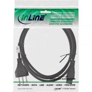 (€2,45*/1m) 2.00m InLine Stromkabel Stecker Italien auf IEC 320 C5 Buchse Schwarz