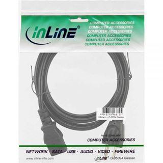 (€4,90*/1m) 1.00m InLine Stromkabel Stecker USA auf Kaltgeräte Stecker C13 Schwarz