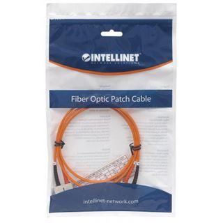 (€0,99*/1m) 10.00m Intellinet LWL Duplex Anschlusskabel 50/125 µm OM2 SC Stecker auf SC Stecker Orange LSOH / Multimode