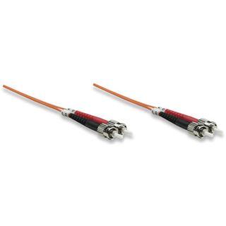 (€1,78*/1m) 5.00m Intellinet LWL Duplex Anschlusskabel 50/125 µm OM2 ST Stecker auf ST Stecker Orange LSOH / Multimode