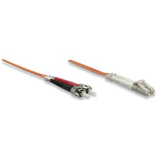 (€3,95*/1m) 2.00m Intellinet LWL Duplex Anschlusskabel 62,5/125 µm OM1 LC Stecker auf ST Stecker Orange LSOH / Multimode