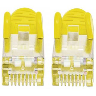 (€1,63*/1m) 3.00m Intellinet Cat. 6a Patchkabel S/FTP PiMF 500MHz RJ45 Stecker auf RJ45 Stecker Gelb LSOH