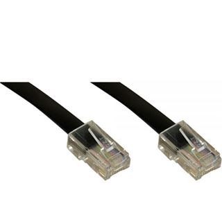 (€0,98*/1m) 5.00m InLine ISDN Anschlusskabel 8p8c RJ45 Stecker auf RJ45 Stecker Schwarz