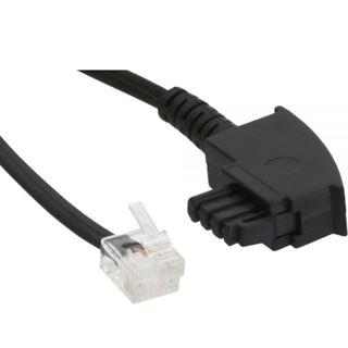 (€1,95*/1m) 2.00m InLine TAE-F Anschlusskabel TAE-F Stecker auf Western 6/2 DEC Stecker Schwarz