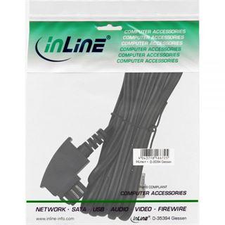 (€3,90*/1m) 1.00m InLine TAE-N Anschlusskabel TAE-N Stecker auf RJ11 Stecker 6/4 Schwarz