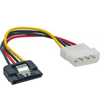 (€13,00*/1m) 0.30m InLine SATA Stromadapterkabel 4pol Stecker auf SATA Strom Stecker Schwarz/Rot/Gelb mit Arretierung