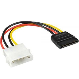 (€13,00*/1m) 0.30m InLine SATA Stromadapterkabel 4pol Stecker auf SATA Strom Stecker Schwarz/Rot/Gelb AWG18