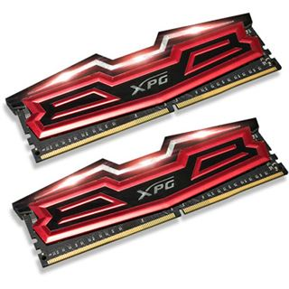 32GB ADATA XPG Dazzle LED rot/schwarz DDR4-3000 DIMM CL16 Dual Kit