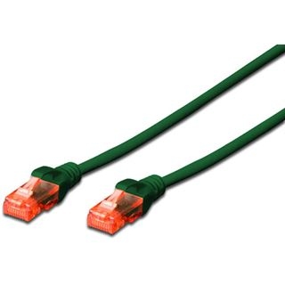(€7,80*/1m) 0.50m Digitus Cat. 6 Patchkabel U/UTP RJ45 Stecker auf RJ45 Stecker Grün Knickschutzelement / LSOH / Rastnasenschutz / Zugentlastung