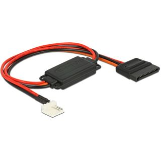 Delock Spannungswandler Floppy 4Pin 5V - SATA 15Pin St/Bu