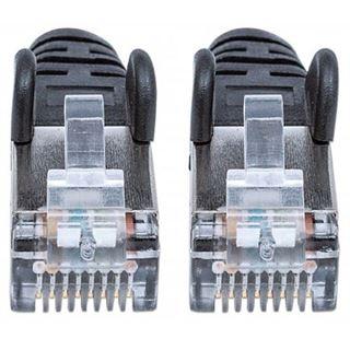 (€1,63*/1m) 3.00m Intellinet Cat. 6a Patchkabel S/FTP PiMF 500MHz RJ45 Stecker auf RJ45 Stecker Schwarz LSOH / Rastnasenschutz