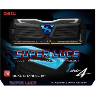 16GB GeIL EVO Super Luce weiße LED schwarz DDR4-2400 DIMM Dual Kit