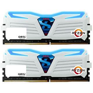 16GB GeIL Ryzen Super Luce blaue LED weiß DDR4-2400 DIMM Dual Kit