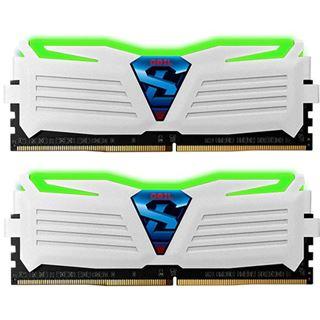 8GB GeIL EVO Super Luce grüne LED weiß DDR4-2400 DIMM CL16 Dual Kit