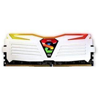 8GB GeIL EVO Super Luce RGB LED weiß DDR4-2400 DIMM CL16 Dual Kit