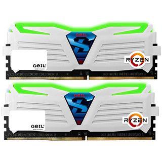 8GB GeIL Ryzen Super Luce grüne LED weiß DDR4-2400 DIMM