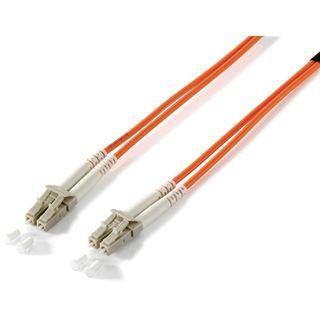 (€0,99*/1m) 10.00m Equip LWL Patchkabel 62,5/125 µm OM1 LC Stecker auf LC Stecker Orange LSOH / mit Messprotokoll