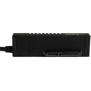 (€54,90*/1m) 1.00m Startech SATA Adapter USB C Stecker auf SATA Buchse 22pin Schwarz mit Netzteil