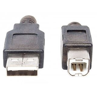 (€1,53*/1m) 15.00m Manhattan USB2.0 Verlängerungskabel aktiv USB A Stecker auf USB B Stecker Grau