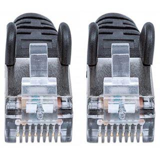(€2,45*/1m) 2.00m Intellinet Cat. 6a Patchkabel S/FTP RJ45 Stecker auf RJ45 Stecker Schwarz LSOH